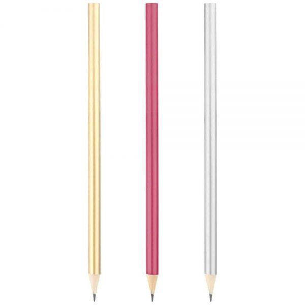 Yuvarlak Metalik Boyalı Kurşun Kalem