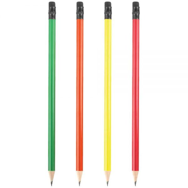 Yuvarlak Silgili Fosforlu Kurşun Kalem